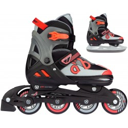 ROLLERS/PATINS A GLACE 2 EN 1 - RED RAIDER
