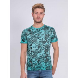 T-SHIRT COL ROND HOMME TROPICAL