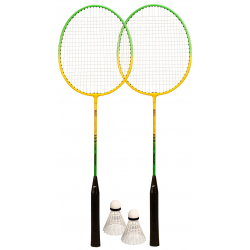 SET 2 RAQUETTES 2 VOLANTS BADMINTON