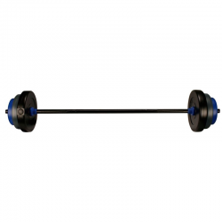BARRE + DISQUES MUSCULATION 20 KG