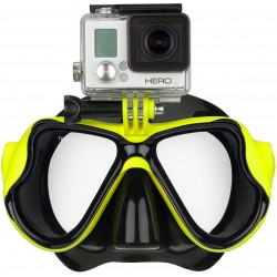 MASQUE DE PLONGEE AVEC SUPPORT CAMERA FRONTALE