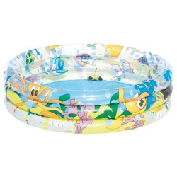 PISCINE GONFLABLE RONDE 3 BOUDINS 122 x 25 cm