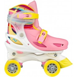 ROLLERS QUAD REGLABLE - ENFANT - RAINBOW
